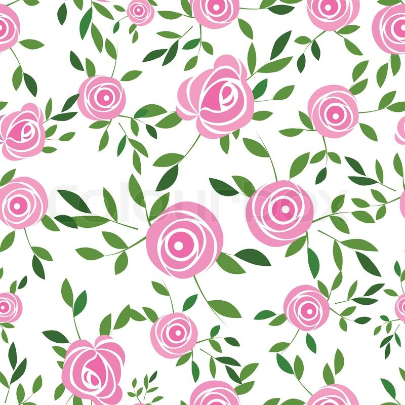 Flower background with rose and leaves, element for design ...