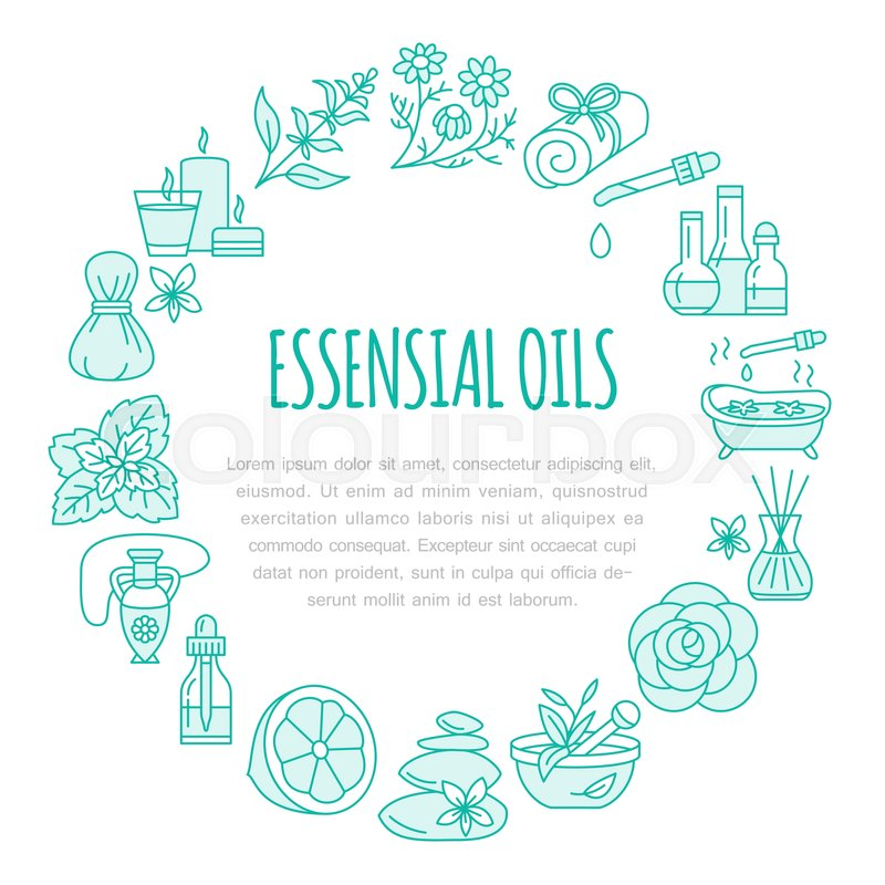 Aromatherapy And Essential Oils Brochure Template Circle Poster