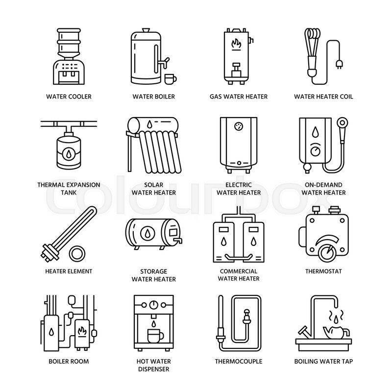 Water heater, boiler, thermostat, electric, gas, solar heaters and ...