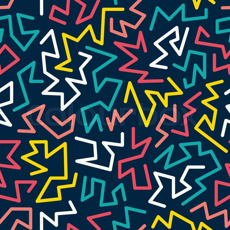 trendy memphis style seamless pattern inspired by 80s 90s