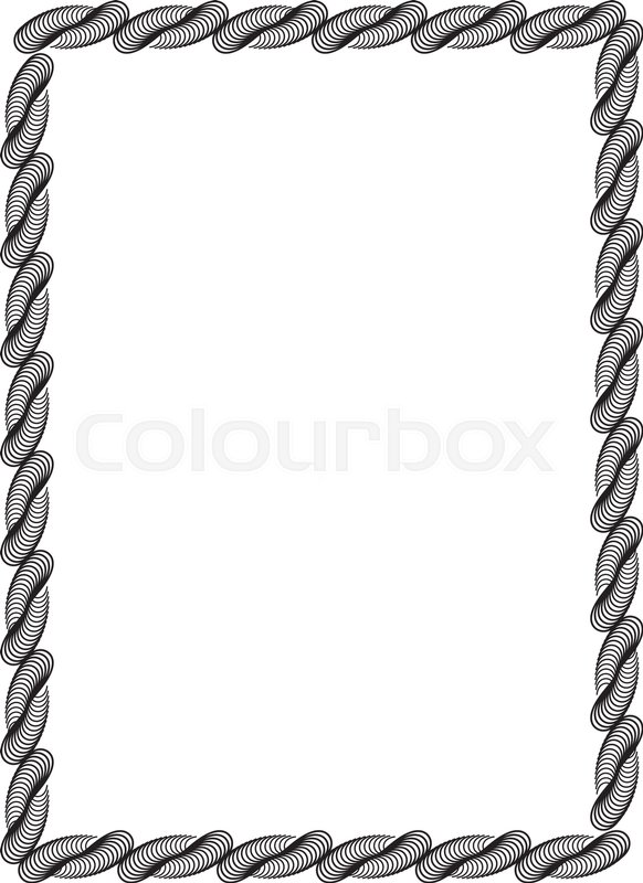 black and white abstract vertical frame guilloche border for rh colourbox com certificate border vector cdr certificate border vector eps free download