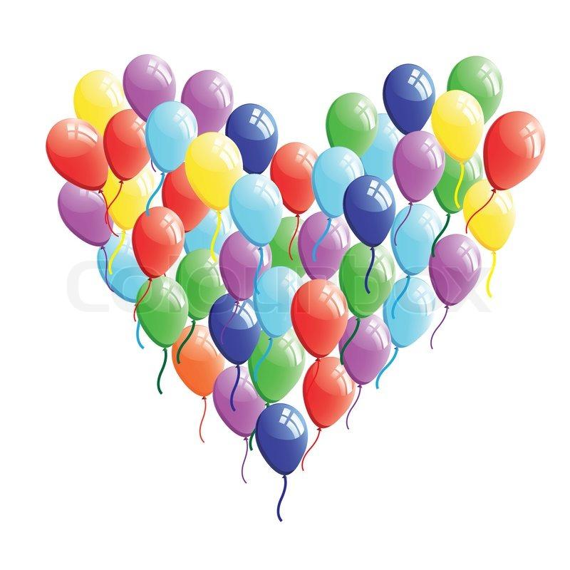 Zusammenfassung Herz Ballon vector | Vektorgrafik | Colourbox