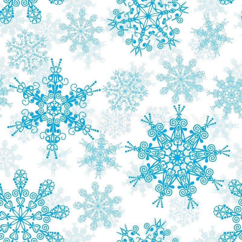 seamless snowflakes pattern vector illustration stock vector