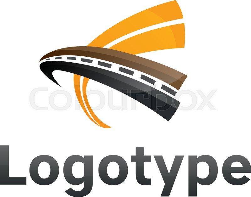road maintenance creative sign concept paving logo design