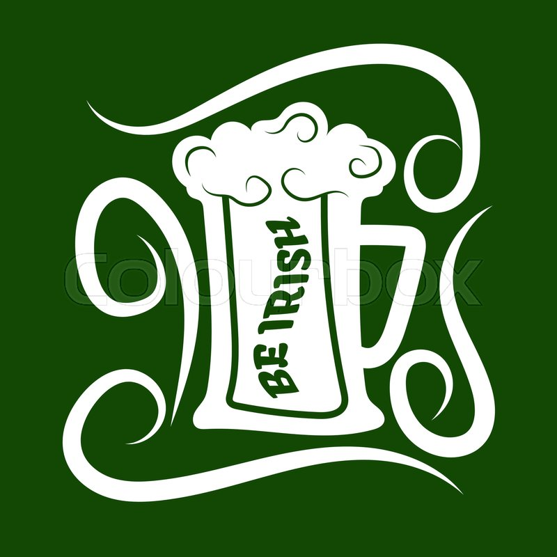 Irish Holiday Traditional Logo Design Element For Vector Greeting