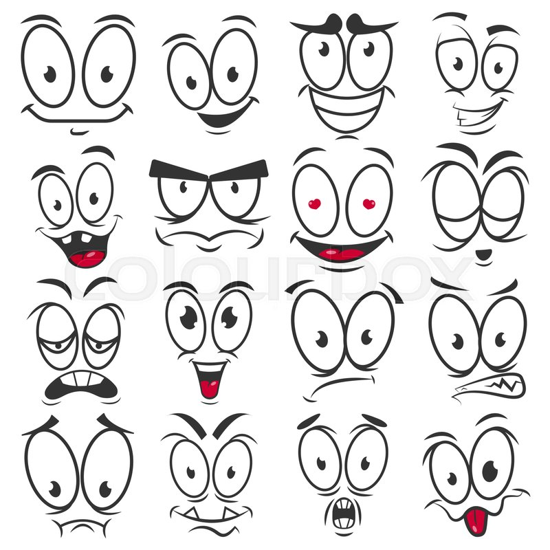Emoticon Faces Happy Sad Stock