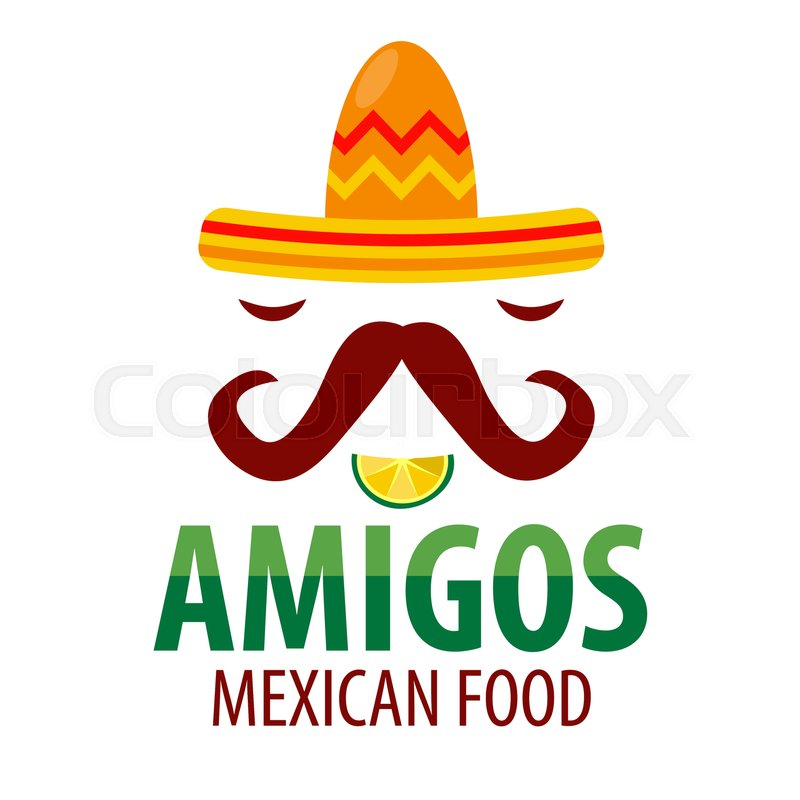 mexican restaurant amigos logo template of sombrero hat with rh colourbox com mexican food logan square chicago mexican food lookout valley