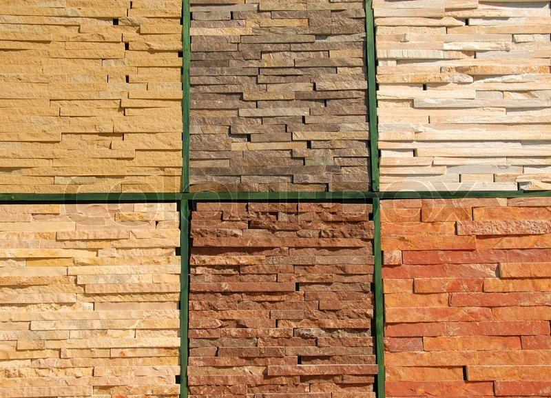 Stein baumaterialien texturen f r wand und - Materiales de construccion para fachadas ...