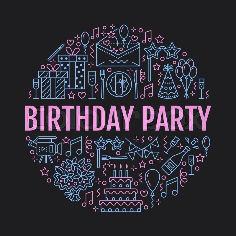 Event Agency Birthday Party Banner
