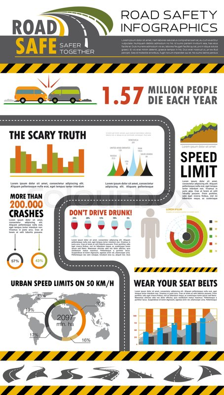Road Safety Infographics  World Map