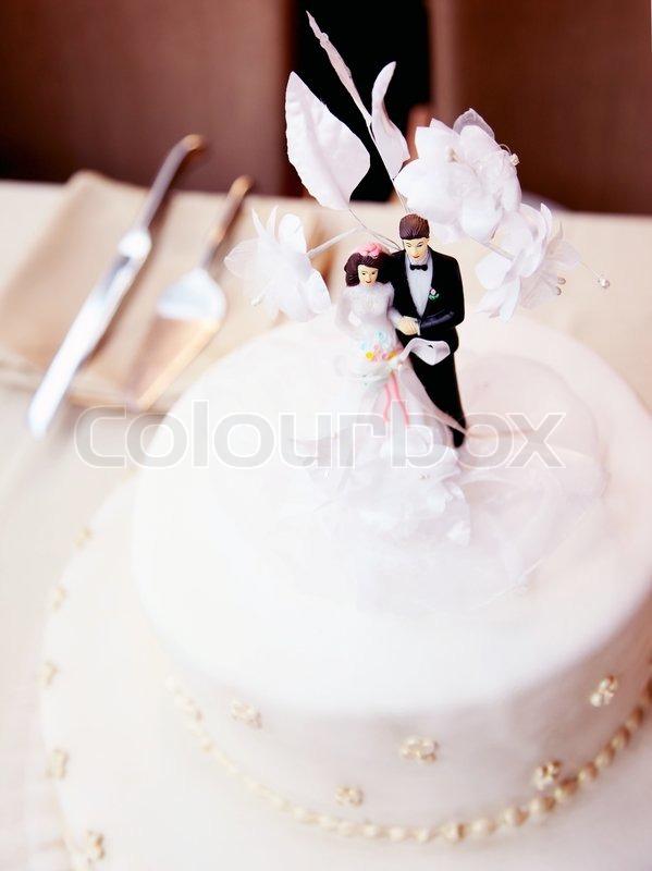 Tasty Wedding Cake Decorated With Stock Photo Colourbox