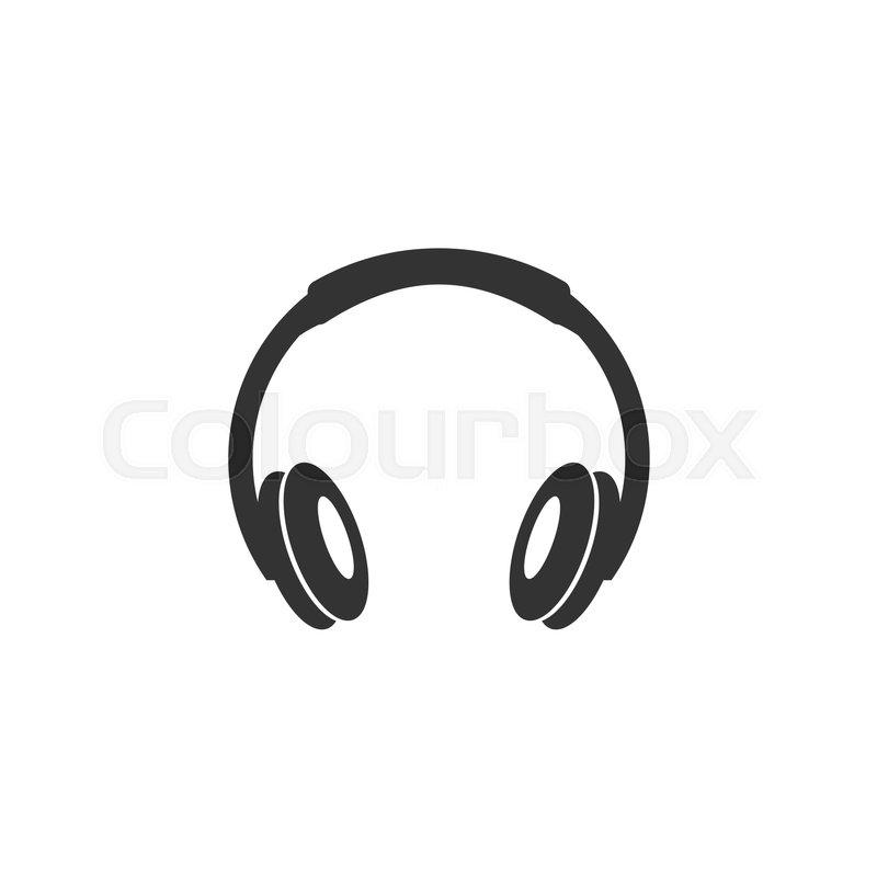 vector illustration of headphone or earphone headset stock vector rh colourbox com headphone vector free ai headphone vector file