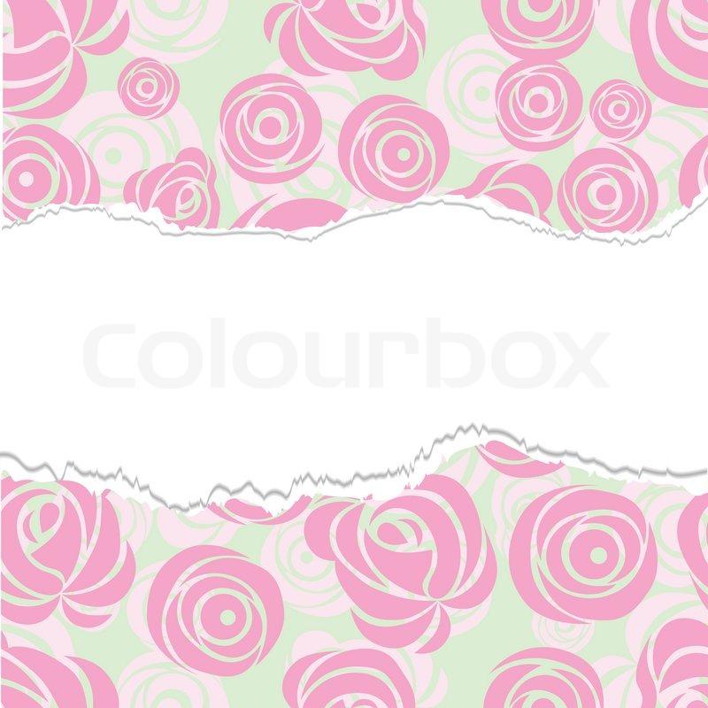 Pink Flower Cartoon Background