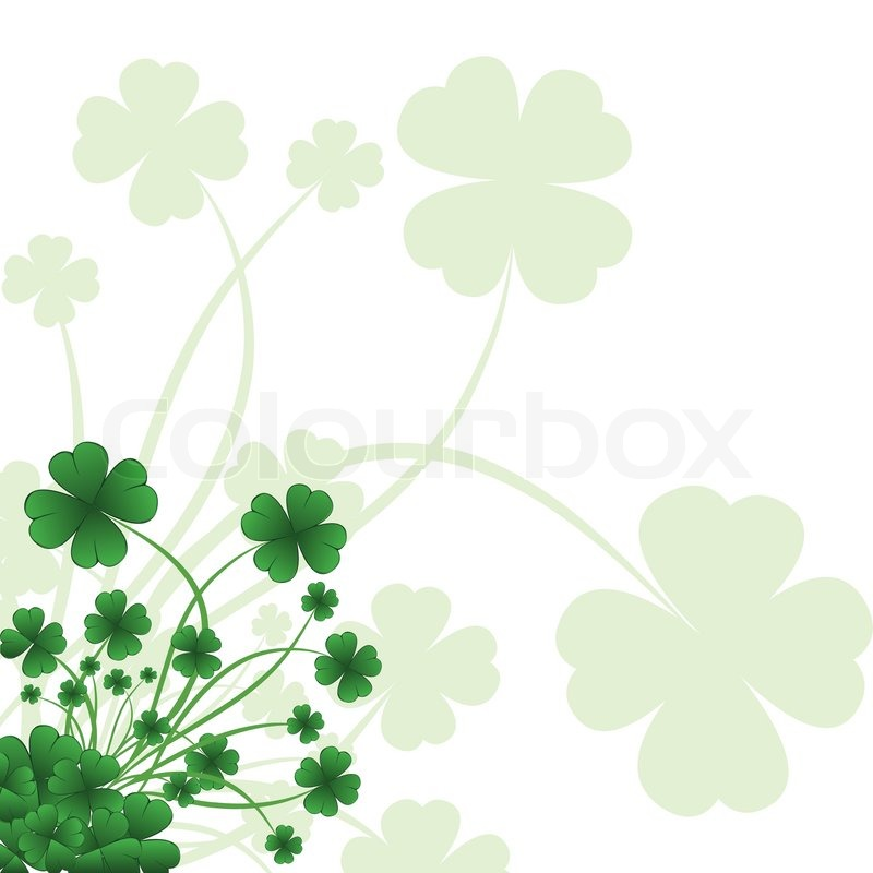 floral ornate background to st patrick s day with clover stock