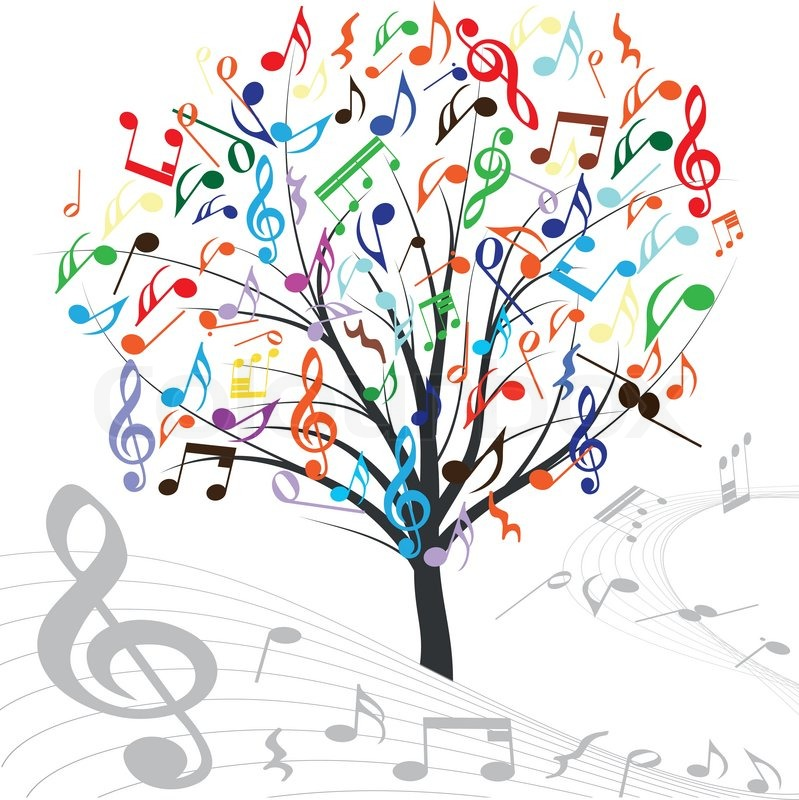 Colorful Music Notes Heart Music Tree Hearts Note Symbol