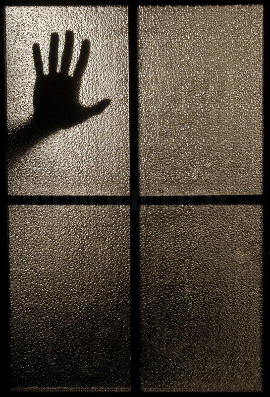 Leicht Verschwommen Silhouette Einer Hand Stockfoto