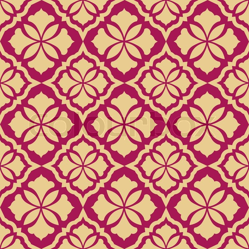 Retro Seamless Background Vintage Wallpaper Texture Royal