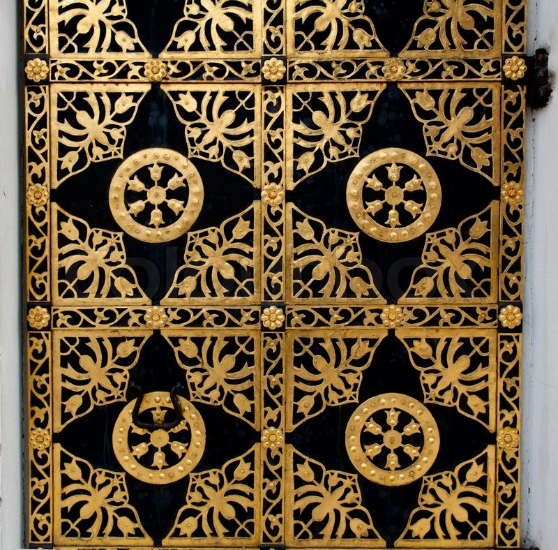 Verziert gold t r goldene dekoration der t r kathedrale der dormitio in kiewer h hlenkloster - Dekoration gold ...