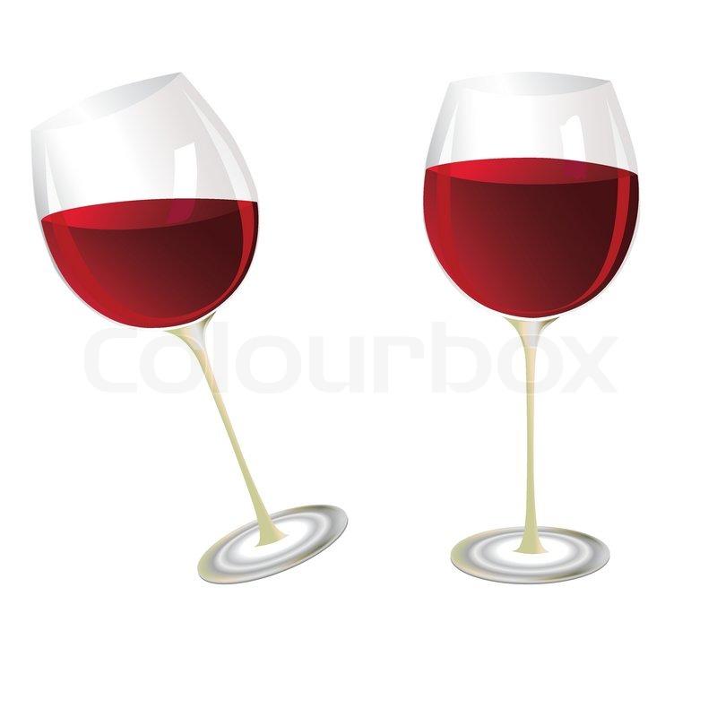 Wine glasses, illustration | Stock Vector | Colourbox