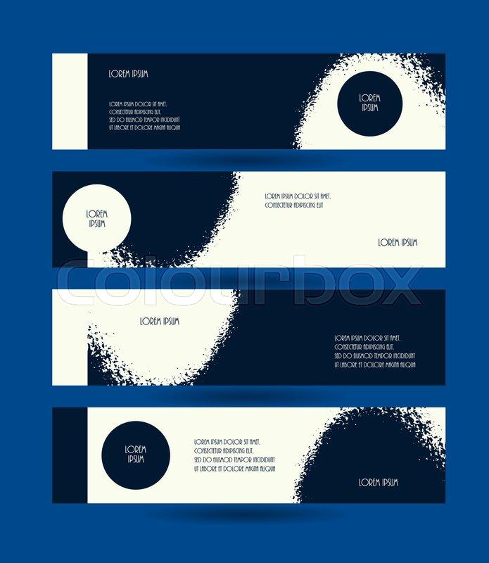 Grunge Dark Blue Design Modern Layout Template Vector Illustration Abstract Advertisement Voucher Collection