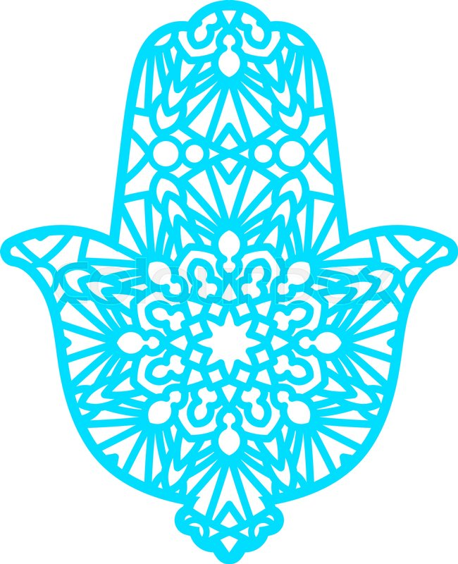 laser cutting template greeting card hamsa protective amulet in the