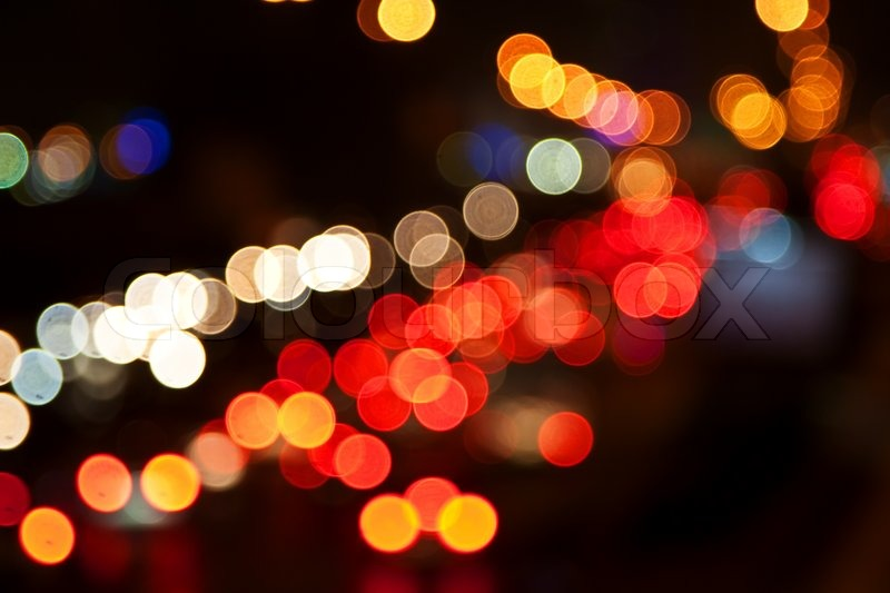 Night Lights Of The Big City Stock Image Colourbox