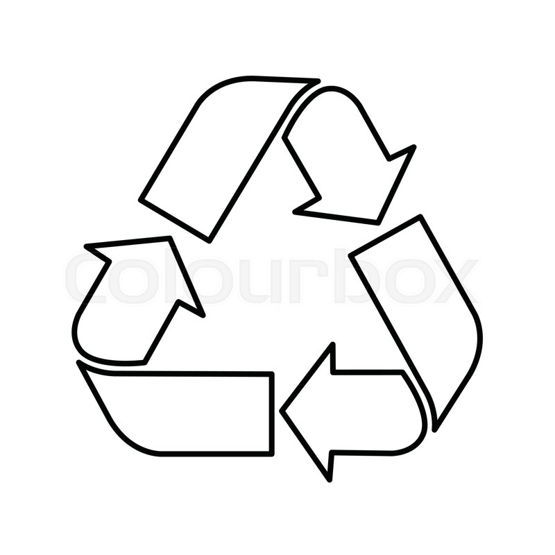 Recycle Symbol Recycle Symbol Vector Stock Vector Colourbox
