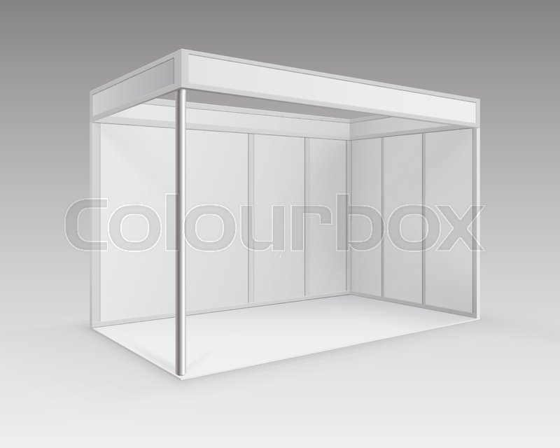 Exhibition Booth Blank : Exhibition booth original and blank template d rendering u stock