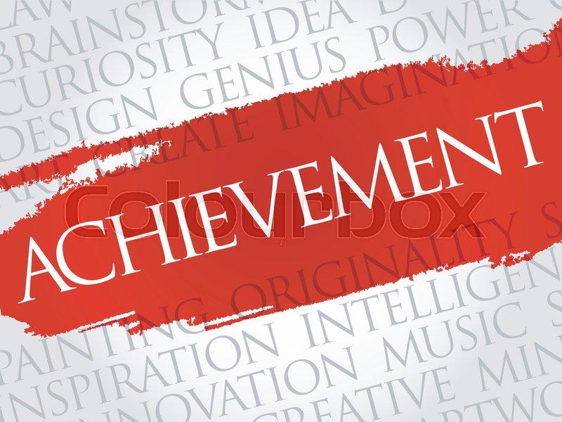 achievement word cloud collage creative business concept