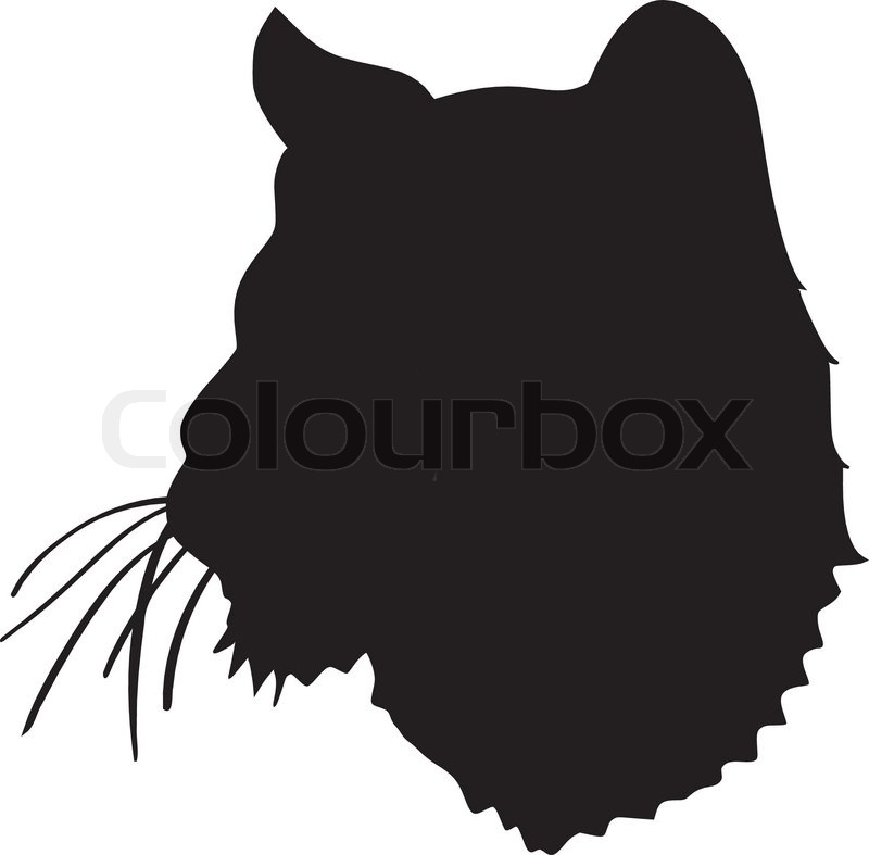 Stock vector of 'Silhouette of tiger'