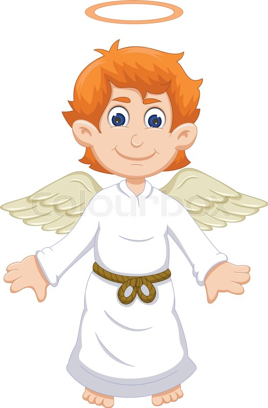 Vector Illustration Of Cute Angel Stock Vector Colourbox