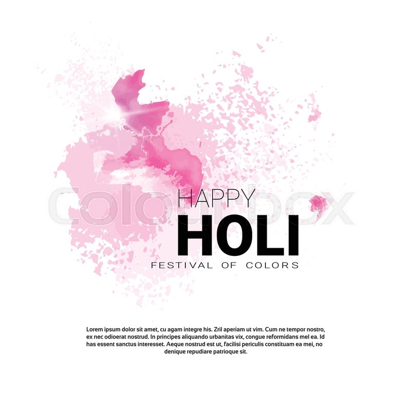 Happy holi religious india holiday traditional celebration greeting happy holi religious india holiday traditional celebration greeting card flat vector illustration stock vector colourbox m4hsunfo