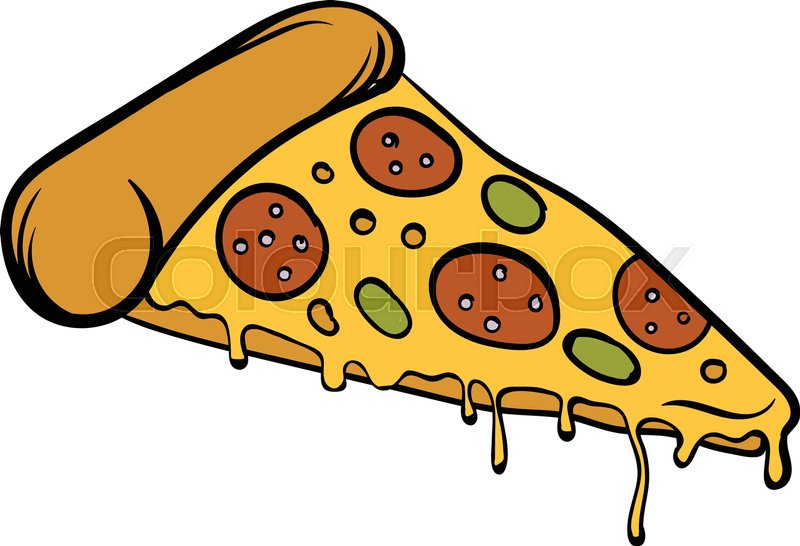 pizza slice icon in cartoon style isolated vector Pizza Illustration Pizza Illustration