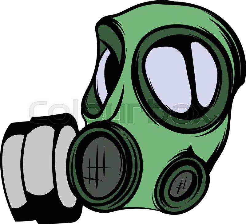 gas mask icon cartoon stock vector colourbox rh colourbox com gas mask cartoon png gas mask cartoon vector
