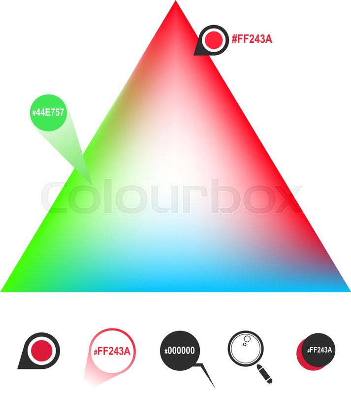 RGB Color Triangle And Icons Vector Eps8