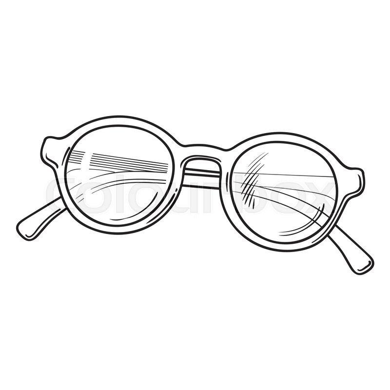 Fashion Glasses Stock Vector Illustration Of Fashionable