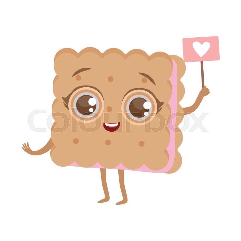 Biscuit Sandwich Cute Anime Humanized Cartoon Food