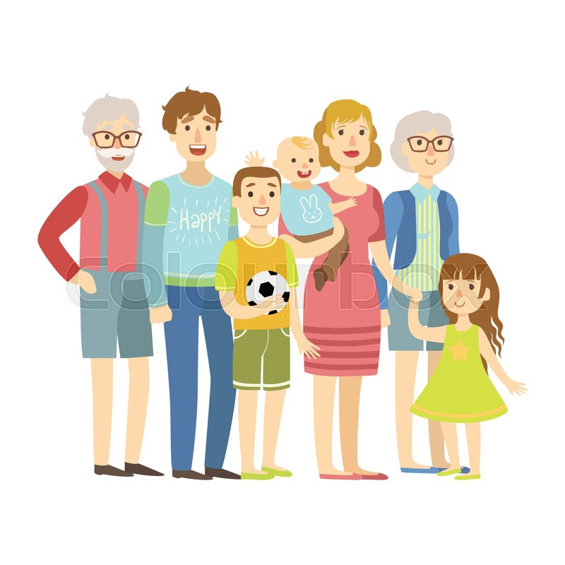 family cartoon with grandparents wwwpixsharkcom