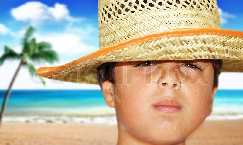 Portrait of a young beautiful boy on the beach | Stock ... - photo#35