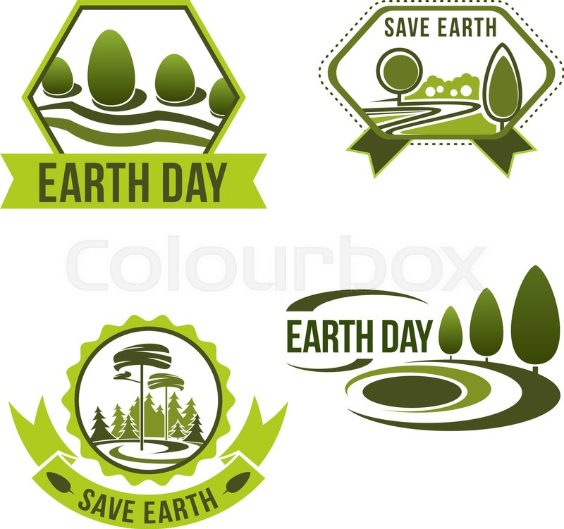Earth Day Icons For Green Nature And Eco Environment Protection