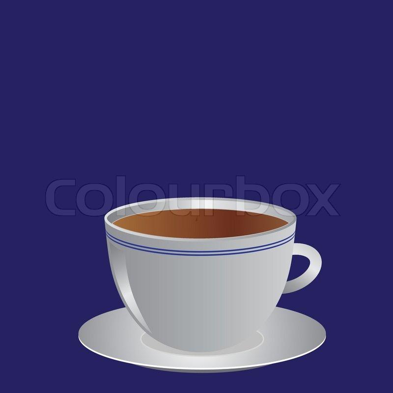 wei e tasse mit kaffee oder tee illustration vektorgrafik colourbox. Black Bedroom Furniture Sets. Home Design Ideas