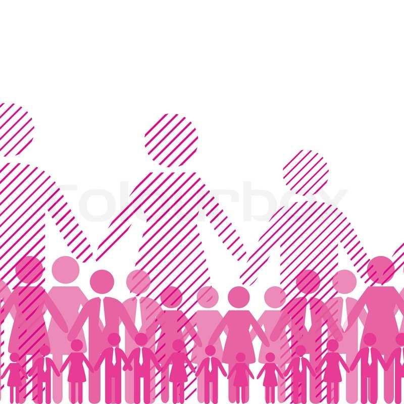 People Business Crowd, Icon Web. Vector Diagram, Network
