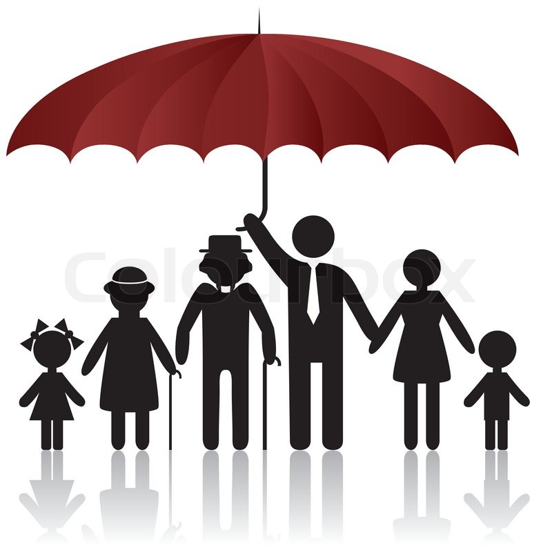 Man And Woman Under Umbrella Silhouette Silhouettes of Woman Man Kid
