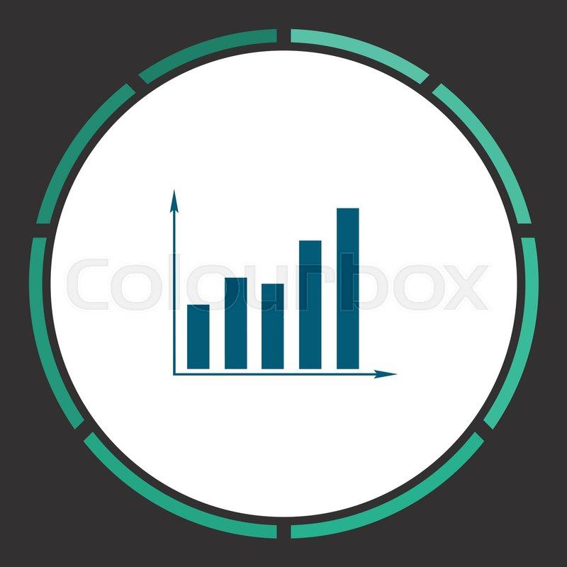 Diagram icon vector flat simple blue pictogram in a circle diagram icon vector flat simple blue pictogram in a circle illustration symbol stock vector colourbox ccuart Images