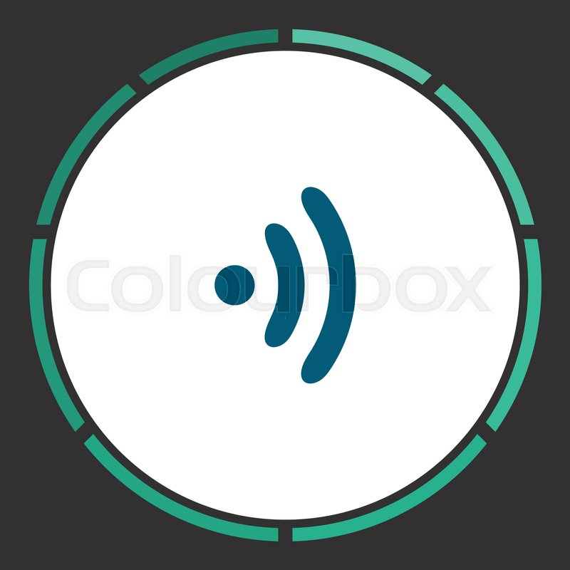 Wifi Icon Vector Flat Simple Blue Pictogram In A Circle