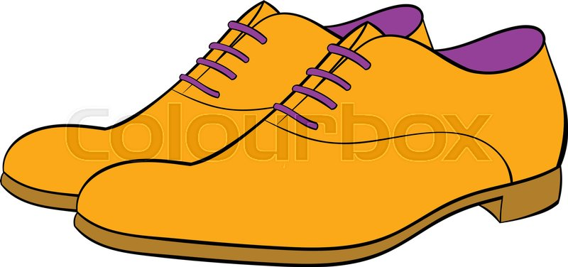 men shoes icon in cartoon style isolated vector illustration stock