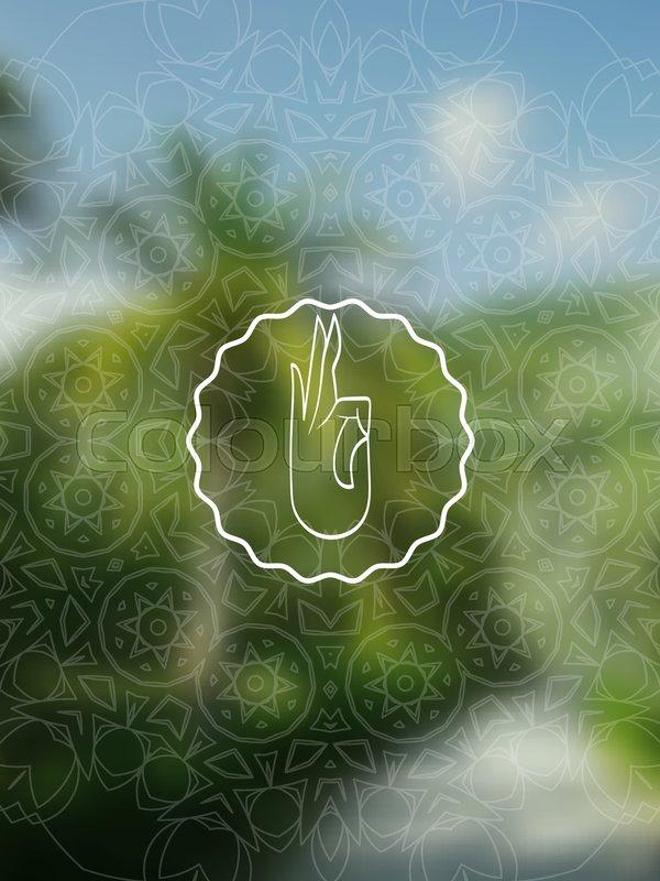 Tropical yoga banner sacred geometry mandala on realistic tropic sunny jungle good for yoga studio tantra or meditation resort flyer card invitation vector eps10 illustration vector stopboris Choice Image