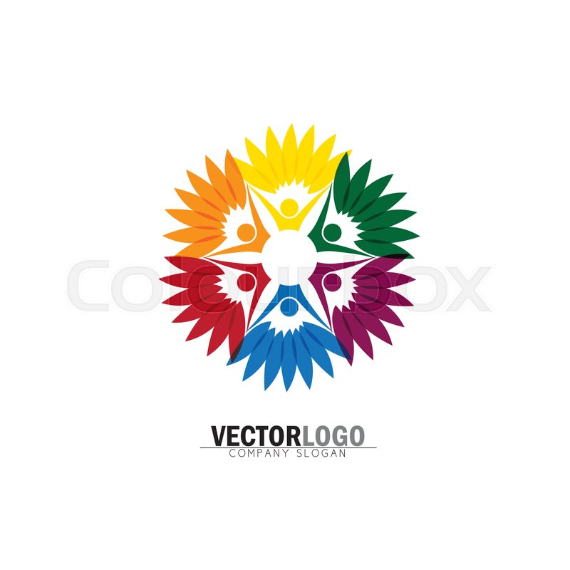Friendship bonding together organic people logo circle tree logo friendship bonding together organic people logo circle tree logo vector logo template healthy person people tree eco and bio icon human character maxwellsz