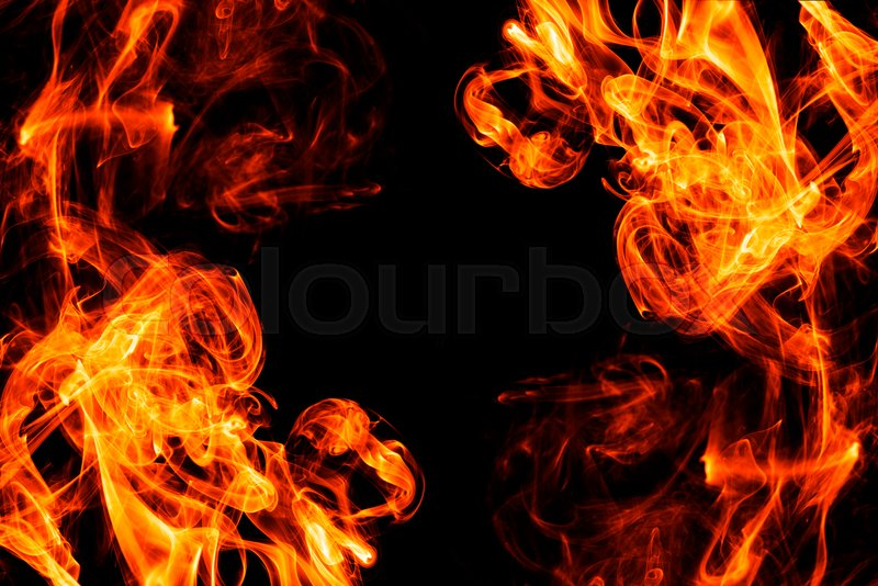 Fire Smoke Abstract On Black Background Stock Image Colourbox