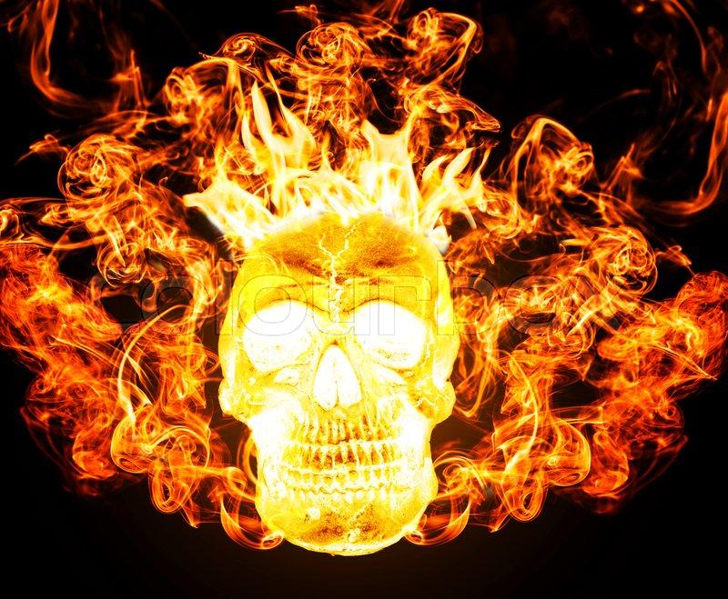 Satanic skull on fire from hell background burning skull darkness satanic skull on fire from hell background burning skull darkness concept horror halloween stock photo voltagebd Choice Image